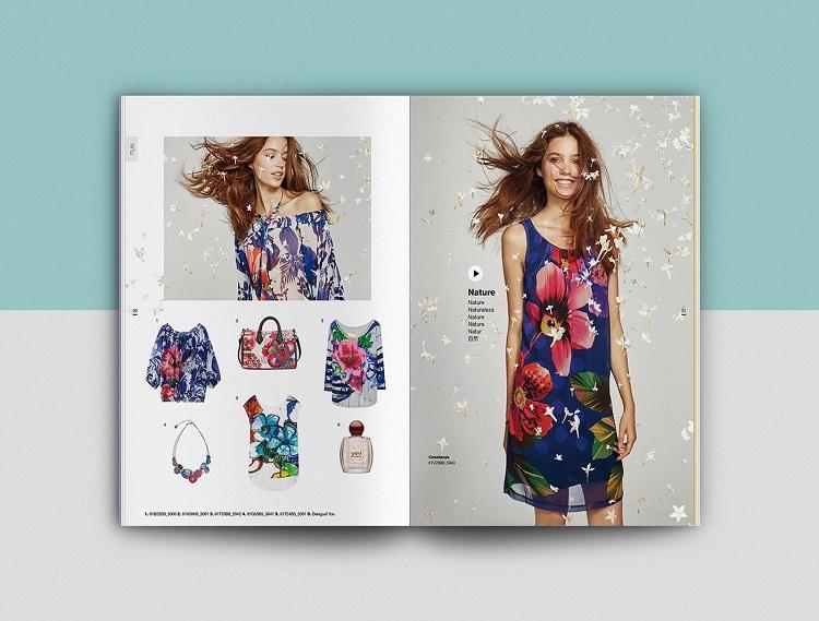 In catalogue màu sắc ấn tượng