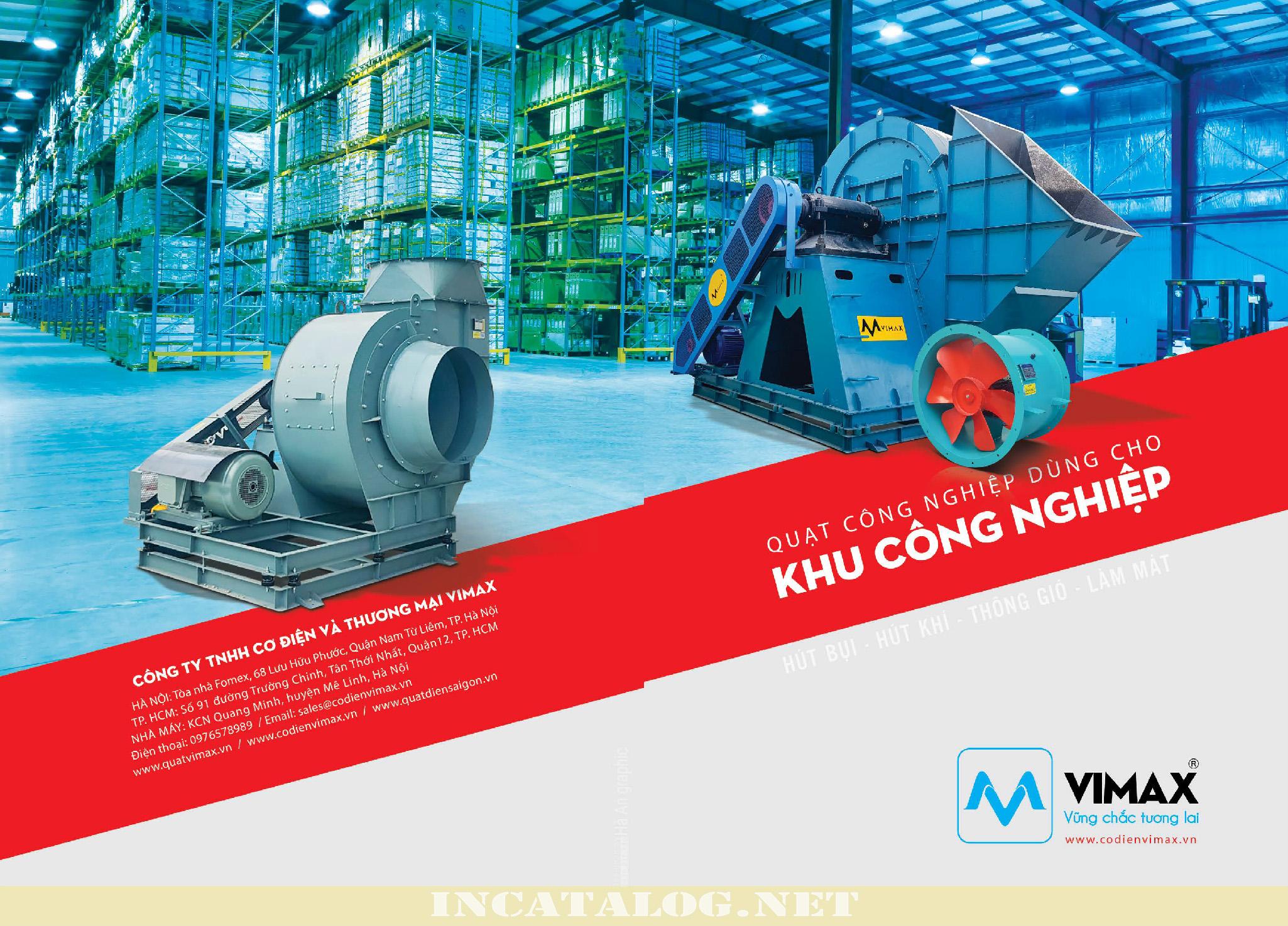 Thiết kế catalogue cho công ty cơ điện - Quạt gió