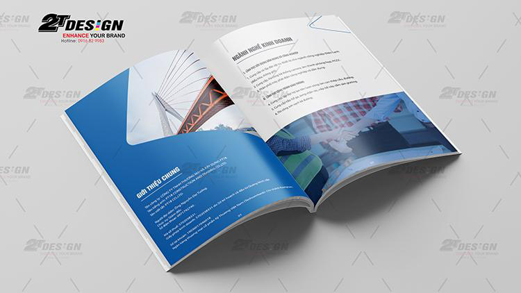 Thiết kế catalogue công ty xây dựng PT18